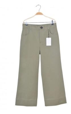 Pantaloni kaki Zara, tip culotte, marime 38