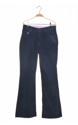 Pantaloni Land's End, velur bleumarin, stretch, 14-16 ani