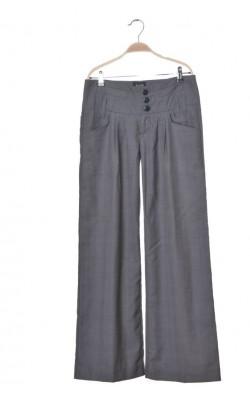 Pantaloni largi cu pense Mbym, marime 40