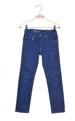 Pantaloni Lindex narrow denim, talie ajustabila, 7-8 ani