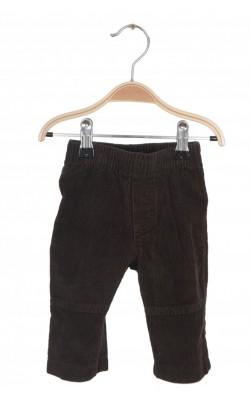 Pantaloni Miniwear, velur, 6-9 luni