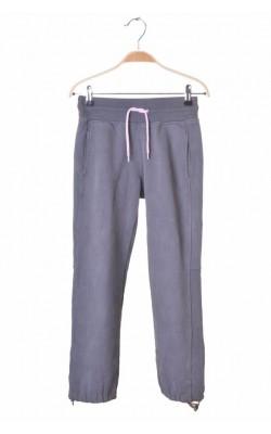 Pantaloni molton gri petrol Bula, siret roz, 10 ani
