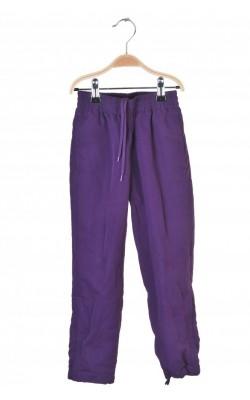 Pantaloni mov captusiti cu mesh Leker, 5-6 ani