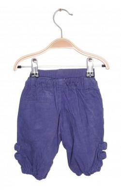 Pantaloni mov velur Name It, captusiti, 0-1 luni