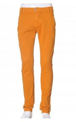 Pantaloni din bumbac stretch Zara Basic, marime S