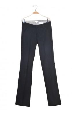 Pantaloni negri bumbac texturat Bruuns Bazaar, marime 34