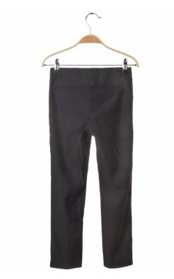 Pantaloni negri scoala H&M, talie ajustabila, 7-8 ani