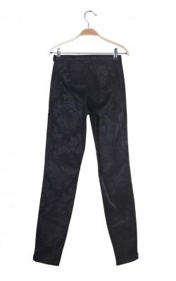 Pantaloni negru tip jacquard Ilse Jacobsen Hornbaek, marime XS