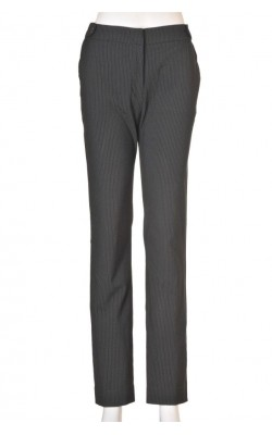 Pantaloni office H&M, dungi fine albe, marime 38
