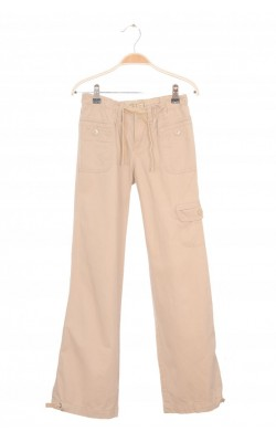 Pantaloni bej din bumbac Old Navy, 12 ani