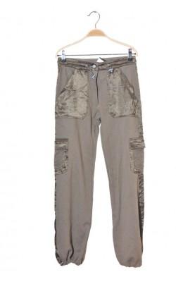 Pantaloni olive jerseu si satin Bfly, 12-13 ani