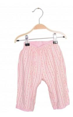 Pantaloni bumbac print floral Pippi, 0-1 luni