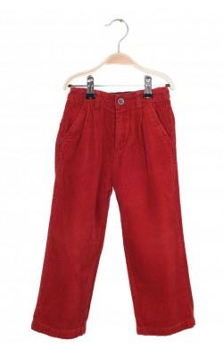 Pantaloni velur rosu Place, talie ajustabila, 4 ani