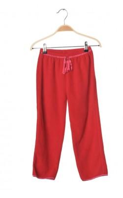 Pantaloni polar rosu Peanuts, 6-7 ani