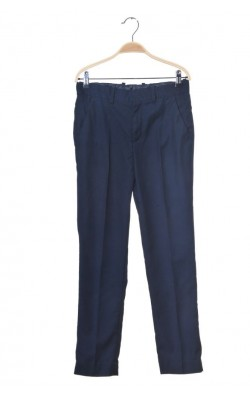 Pantaloni scoala H&M, bleumarin, talie ajustabila, 12-13 ani