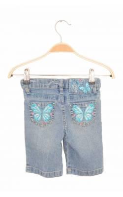 Pantaloni scurti Arizona, broderie fluturi si strasuri, 5 ani Slim