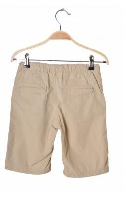 Pantaloni scurti bej H&M, talie ajustabila, 7-8 ani