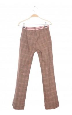 Pantaloni stofa bumbac in dungi Benetton, 10 ani