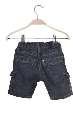 Pantaloni scurti denim H&M Fit&Relax, talie ajustabila, 2 ani