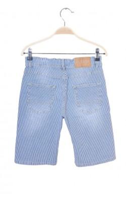 Pantaloni scurti denim Please, talie ajustabila, 12 ani