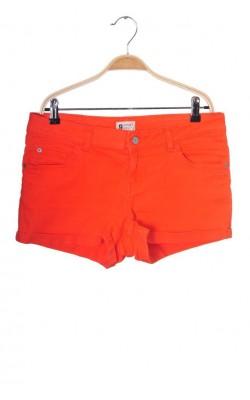 Pantaloni scurti denim portocaliu Gina Tricot, marime 38