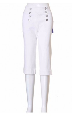 Pantaloni scurti denim stretch alb Baccini, marime 40