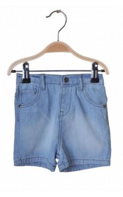 Pantaloni scurti denim subtire F&F, 9-12 luni