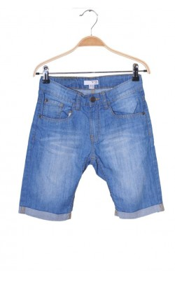 Pantaloni scurti denim Vrs Junior, talie ajustabila, 10 ani