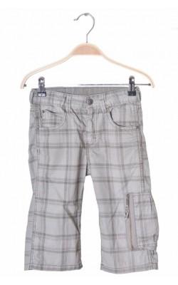 Pantaloni scurti gri cu dungi H&M, talie ajustabila, 6-7 ani