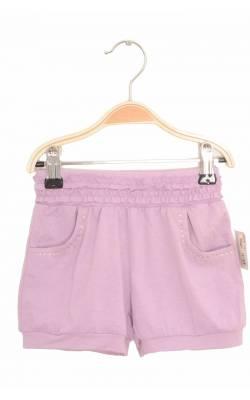 Pantaloni scurti lila cu strasuri pe buzunare, 4 ani