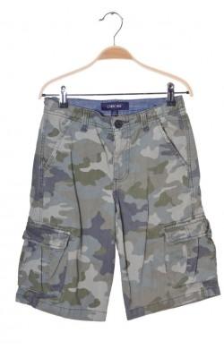 Pantaloni scurti print camuflaj Cherokee, talie ajustabila, 12 ani