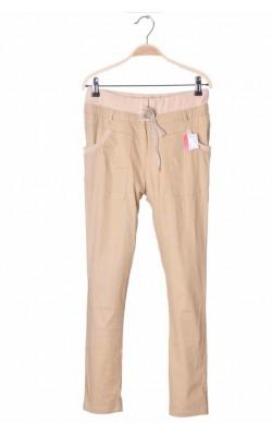 Pantaloni slim leg din bumbac Moonar, 13-14 ani