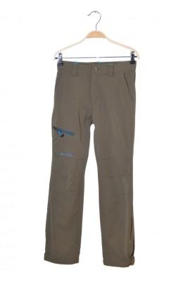 Pantaloni softshell kaki Norheim, talie ajustabila, 12 ani