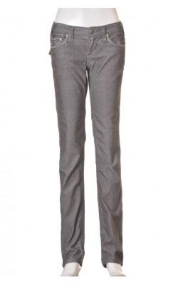 Pantaloni Stitch's, catifea reiata stretch, marime 34
