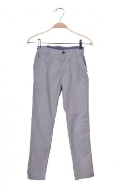 Pantaloni subtire din bumbac H&M, talie ajustabila, 7-8 ani