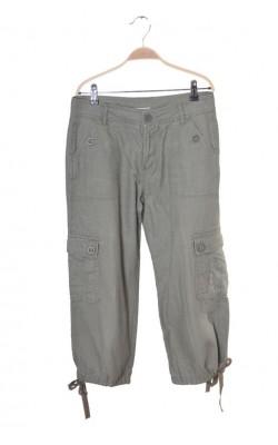 Pantaloni trei sferturi amestec in Va Vite, culoare kaki, marime 38