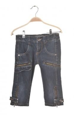 Pantaloni trei sferturi denim Freeze, talie ajustabila, 8 ani