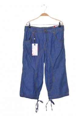 Pantaloni trei sferturi denim subtire Only, tur lasat, marime 36