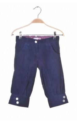 Pantaloni trei sferturi Name It, velur subtire, 6-7 ani