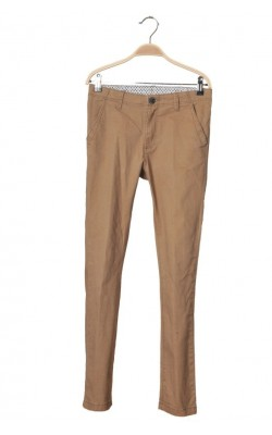 Pantaloni twill camel H&M, talie ajustabila, 12-13 ani