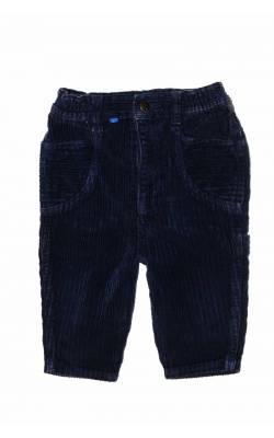 Pantaloni velur bleumarin Du Pareil au Meme, 6 luni