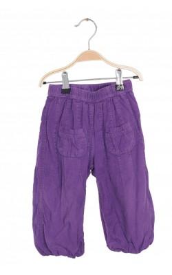 Pantaloni captusiti catifea reiata velur mov Me Too, 12-18 luni