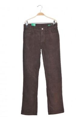 Pantaloni velur United Colors of Benetton, talie ajustabila, 12 ani