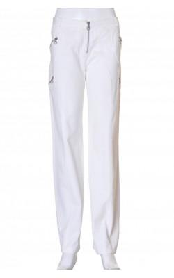 Pantaloni albi din bumbac Versace, marime S