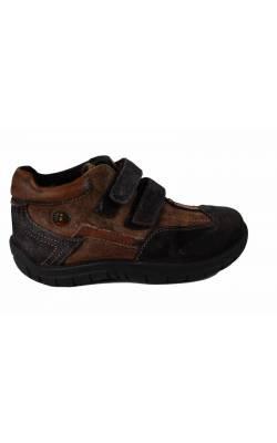 Pantofi Baren-Schuhe, piele intoarsa maro, marime 29