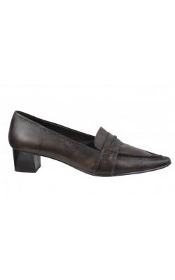 Pantofi maro din piele naturala Barisal, marime 38