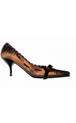 Pantofi Bdk, piele sarpe, marime 40