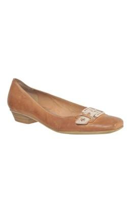 Pantofi bej cu catarama Tamaris, piele, marime 40