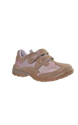 Pantofi bej cu lila Superfit, piele, marime 30