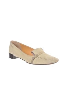 Pantofi bej din piele Bally, marime 37.5